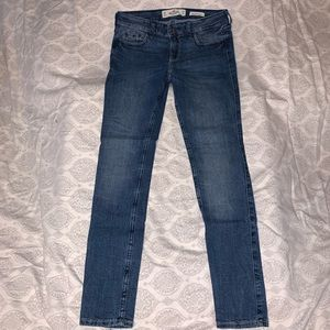 Hollister stretch denim low rise super skinny